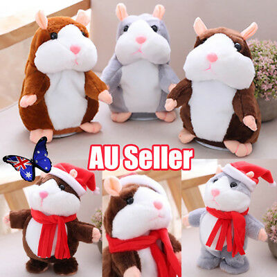 Cheeky Hamster talking mouse pet christmas toy speak sound record hamster Gift Q