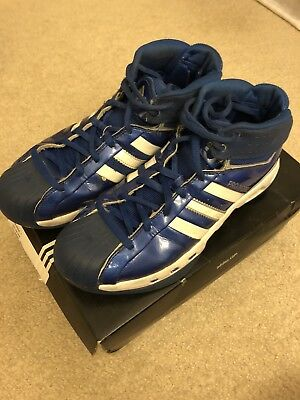 eb714946598 Adidas Pro Model S Basketball 2006 Blue White Men 9.5 Athletic Patent  Leather