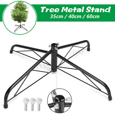 35cm / 40cm / 60cm Christmas Tree Stand Green Metal Holder Base Cast Iron Stand