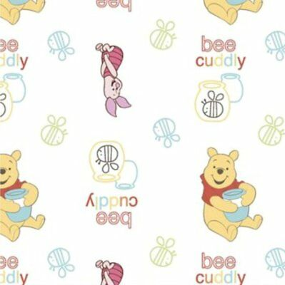 Disney Fabric - Winnie the Pooh & Friends - Bee Cuddly - White - Multiple Sizes