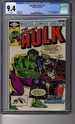 Incredible Hulk # 271 - CGC 9.4 White Pages - First appearance of Rocket Raccoon