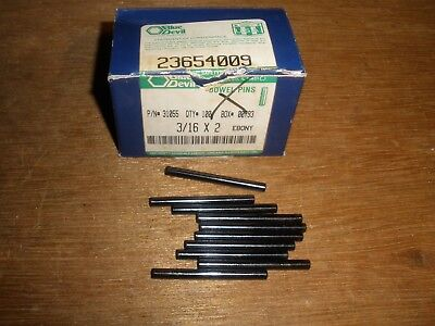 "3/16"" X 2"" Dowel Pins Blue Devil Black Oxide Ebony Finish USA Made (Qty.10)"