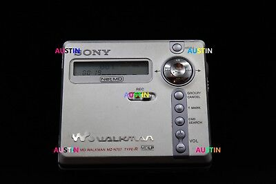 Sony Mz N707 Net  Md  Minidisc With  Microphone, Batteires