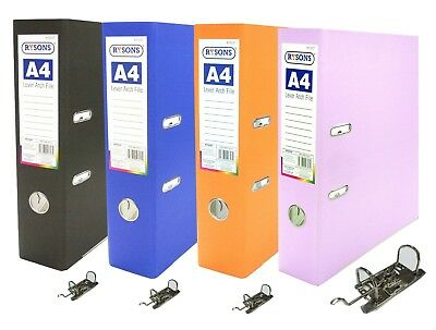 12 x A4 Large 75mm Lever Arch Files Folders Stationery Metal Document Storage