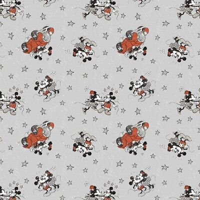 Disney Fabric - Mickey & Minnie Mouse - Married Life - Grey - Multiple Sizes