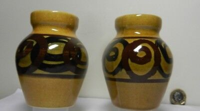 2 Vintage  Vases by Brixham Pottery Devon