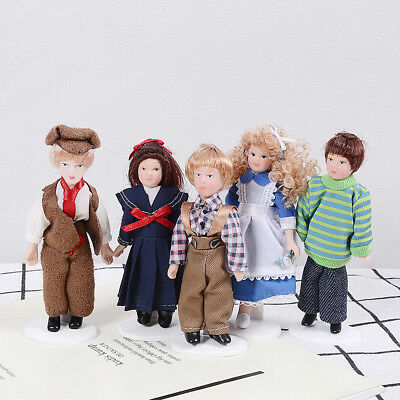 1:12 Dollhouse miniature porcelain dolls victorian figure dollhouse collection 0