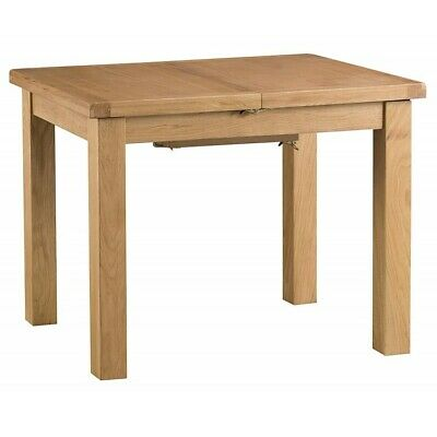 Colchester Rustic Oak Furniture 1M Wooden Butterfly Extending Dining Table