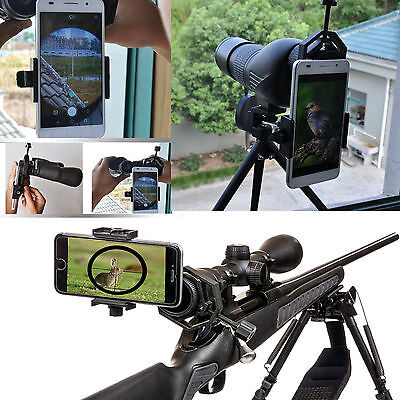 Cell Phone Telescope Adapter Mount Smartphone Binocular Telescope Monocular New