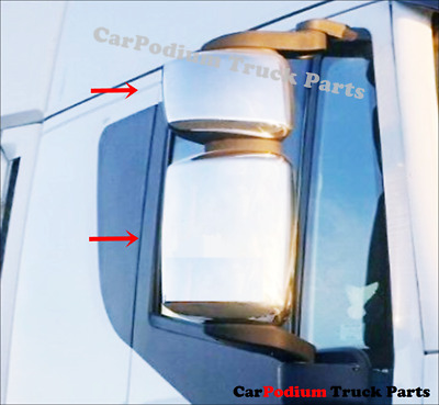 IVECO STRALIS HI-WAY CHROME MIRROR COVER ''STAINLESS STEEL'' 4 pcs.