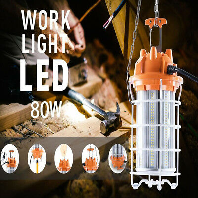 80W LED Temporary Construction Hanging Work Light Fixture 5700K Daylight 10000Lm