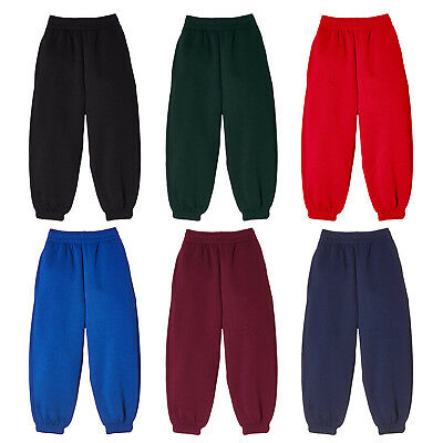 Kids Joggers Trouser Sports Jogging Pants Casual School Play Soft Fleece Bottoms