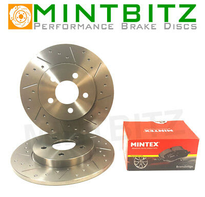 Grooved Only Rear Brake Discs & Pads Compatible with Forester 2.0 150bhp 13-