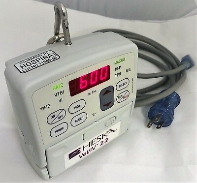 Heska Vet/IV 2.2 with New Battery and AC Power Cord. Patient Ready (Hospira)