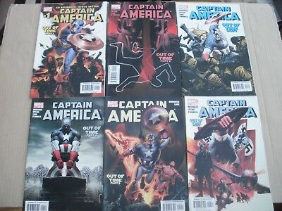 Captain America Out Of Time #1,2,3,4,5,6 Brubaker 1St Apperance Winter Soldier