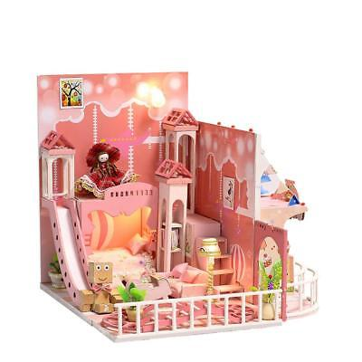 Dream Childhood Miniature DIY Doll House with Furnitures Wooden House Toys Gifts