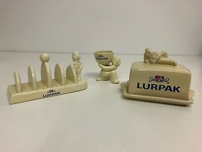 Lurpack Collectables Toast Rack Egg Cup Butter Dish Breakfast Set