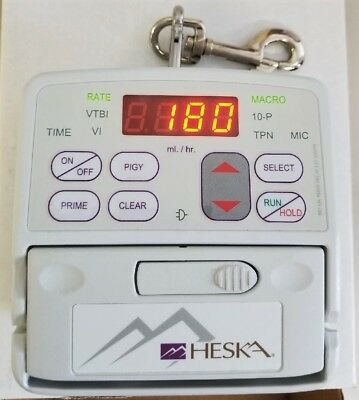 Heska Vet/IV 2.2 with New Battery and AC Power Cord. Patient Ready (Baxter)