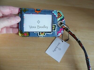 Vera Bradley Luggage Tag Painted Medallion Design Water Repellant ID Window  NEW