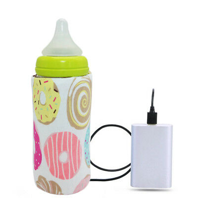 Portable Bottle Warmer Heater Travel Baby Kids Milk Water USB Cover Pouch Soft 0
