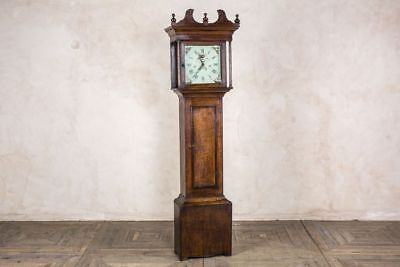 Antique Grandfather Clock 30-Hour Clock With Painted Face