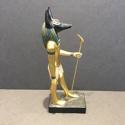 Statue of Egyptian God Anubis Yinepu by Artisans Guild International