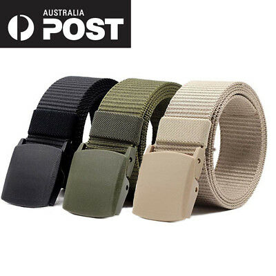 Men's Fashion Outdoor Sports Military Tactical Nylon Waistband Canvas Web Belt H