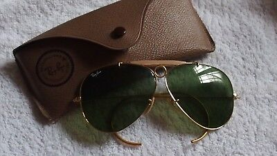 072dd0793fc21 RAY BAN AVIATOR Shooter Usa bausch   Lomb lunettes Soleil Collector ...