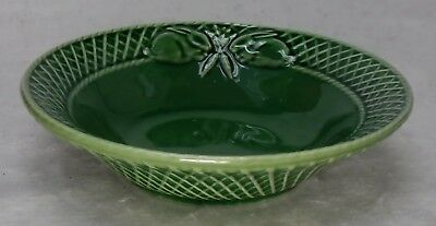 BORDALLO PINHEIRO Portugal RABBIT GREEN pattern Soup/Cereal Bowl  7-3/8""