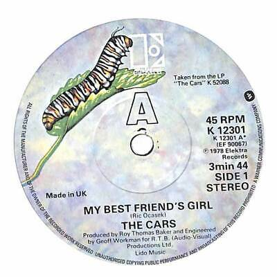 """The Cars - My Best Friend's Girl - 7"""" Record Single"""