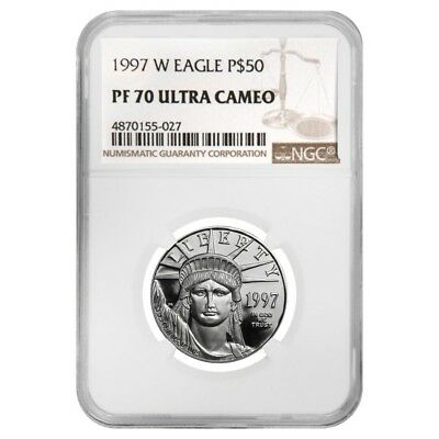 1997 W 1/2 oz $50 Platinum American Eagle Proof Coin NGC PF 70 UCAM