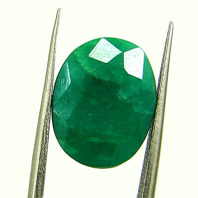 5.14 Ct Certified Natural Green Emerald Loose Oval Cut Gemstone Stone - 131257