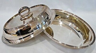 Vintage Silver plate Covered Vegetable Dish hallmarks GMCO E P