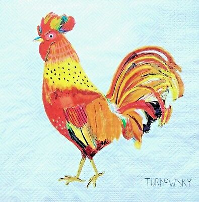 5  x  Paper Party Napkins for Decoupage Chicken Chicks Hens Napkin Art