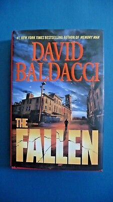 First Edition - Memory Man: The Fallen 4 by David Baldacci (2018, Hardcover)