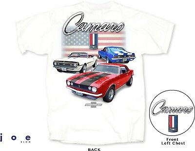 fb4cab7a Chevy Camaro Men's T-Shirt 1st Gen 1967 1968 1969 RS SS Red White Blue