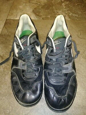 new concept 51ef1 b93db Vintage Nike Shark Cleats Size 10. Football Black White Red