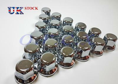 60x 32mm Lux Plastic CHROME Wheel Nut Cover Caps fit Truck Scania Mercedes Volvo