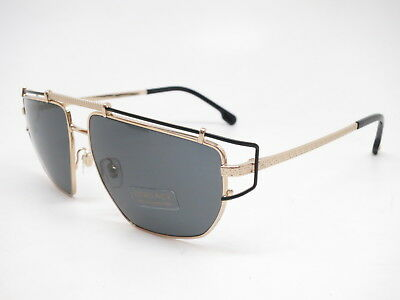 d9c401ca97 NEW VERSACE VE 2150Q 1341 87 Gold   White w Grey 2150-Q Leather ...