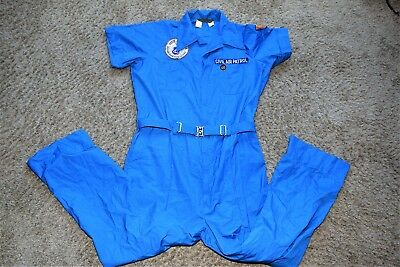 Vtg Walls CAP CIVIL AIR PATROL coveralls 61st Illinois Wing Patch L