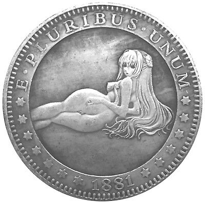 Reclining Nude V3 Novelty Head Tail Good Luck Token Coin US SELLER FAST SHIPPING