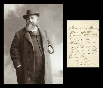 Raoul Pugno (1852-1914) - French composer - Autograph letter signed + Photo