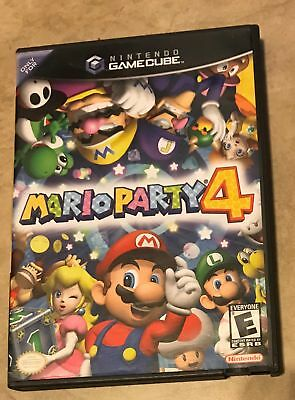 Mario Party 4 EMPTY REPLACEMENT CASE - Gamecube NO Game NO Manual