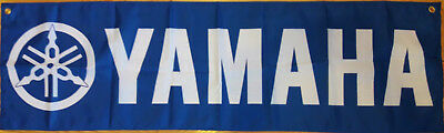 Yamaha Banner Man Cave Automotive Garage Racing Flag 58X17 inches