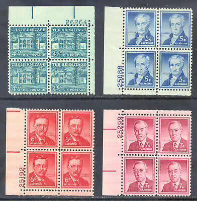 US Stamp (L2131) Scott# 1037-1040, Mint NH OG, Nice Liberty Plate Blocks