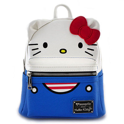 47657a493 NWT! LOUNGEFLY HELLO KITTY PATCHWORK Mini Backpack~Book Bag ...