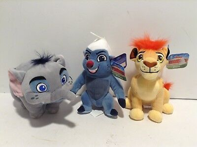 Set of 3 Disney Junior 6in The Lion Guard Mini Plush Kion Mtoto Bunga New w Tags