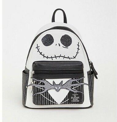 96d87667e03 The Nightmare Before Christmas X Loungefly Jack Skellington Head Mini  Backpack