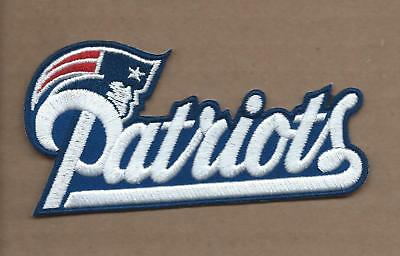 New 2 1/8 X 4 1/4 Inch New England Patriots Iron On Patch Free Shipping