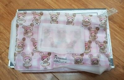 USED Wipouch x tokidoki refillable baby wipe pouch Donutella 60
